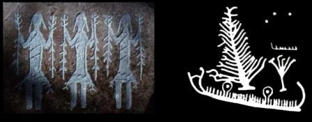 Arte rupestre escandinavo - Skibladnir. Barca magica de Odin